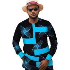 Dashiki top for men – Afrinspiration African Shirts For Men, African Dresses Men, African Attire For Men, African Clothing For Men, African Wear, African Dashiki Shirt, African Print Shirt, Nigerian Men Fashion, African Men Fashion
