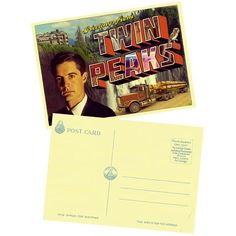 Twin Peaks Postcard. Designed by @Octave Zangs Auger Terol