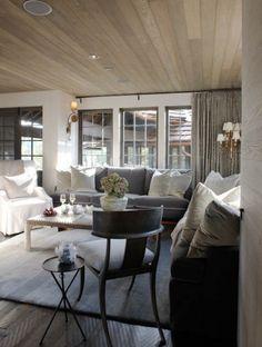 McAlpine Booth & Ferrier Interiors Giles Lakehouse » McAlpine Booth & Ferrier Interiors. Verhot samaa väriä katon ja seinien kanssa