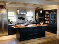 black and oak kitchens - Google Search