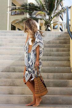 To the Beach: Kimono Cover Up   Twenties Girl Style