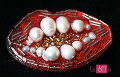 Red lips brooch red lips shaped pin brooch PinUp red lips kiss brooch pearl brooch Vintage Retro Red Rhinestone Lips Brooch Pin by tashabiju on Etsy