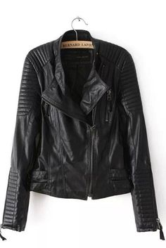 Faux Leather Coat Biker Jacket Leather Jacket Women Suede Jacket Coats Women Basic Jackets Street PU Short Outerwear black M Vegan Leather Jacket, Faux Leather Jackets, Pu Leather, Black Leather, Leather Coats, Fashion Moda, Look Fashion, Street Fashion, Female Fashion