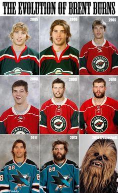 The evolution of NHL star Brent Burns.