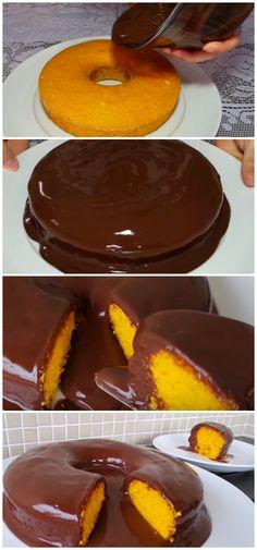 Receita de Bolo de Cenoura sem Glúten e sem Lactose: receita simples de liquidificador para você fazer um bolo de cenoura sem leite fofinho e delicioso! #bolo #cenoura #chocolate #doces #gluten #glutenfree #receitas #semgluten #saudavel