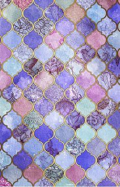 'Royal Purple, Mauve & Indigo Decorative Moroccan Tile Pattern' iPhone Case by micklyn - Royal Purple, Mauve & Indigo Decorative Moroccan Tile Pattern Tile Patterns, Pattern Art, Pattern Design, Diy Wanddekorationen, Moroccan Decor, Moroccan Tiles, Moroccan Pattern, Moroccan Bedroom, Moroccan Interiors