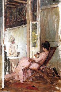 La Loggia (croquis) - John William Waterhouse