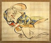 The Genius of Japanese Lacquer: Masterworks by Shibata Zeshin: Articles: Multimedia: Japan Society. he Ibaraki Demon Snatches Back Her Arm, about 1839–40. Hanging scroll, ink and colors on paper, 51 ½ x 63 in. (131 x 159.7 cm). Klaus F. Naumann Collection.
