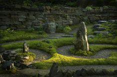 Modern Asian landscape garden ideas by aguafina Asian Landscape, Creative Landscape, Landscape Designs, Modern Landscaping, Garden Landscaping, Garden Pond, Succulent Planters, Landscaping Design, Hanging Planters