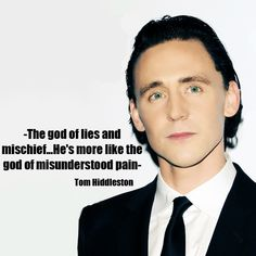 Also the god who is Coulson's killer. I love Loki ALOT, but I will never forgive him for that.
