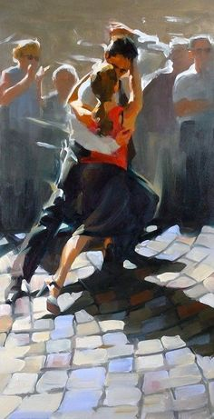 Paul Hedley I can't help it, I'm a sucker for a tango! Tango Art, Art Watercolor, Dance Paintings, Argentine Tango, Shall We Dance, Modern Dance, Anime Comics, Beautiful Paintings, Figurative Art
