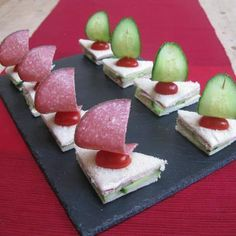 Finger food for children's birthday: 33 simple ideas to imitate - Kindergeburtstag - Essen Easy Party Food, Snacks Für Party, Parties Food, Appetizers For Kids, Appetizer Recipes, Party Appetizers, Vegetarian Appetizers, Cute Food, Good Food