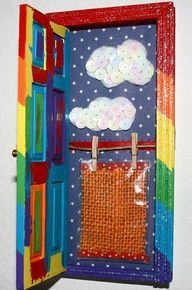 Tooth Fairy door...mini door you decorate and embellish to hold that lost tooth. Mount on the wall in your kids room. Great directions for DIY  (I have a red one decorated for Christmas...now I know what to do with it!!)