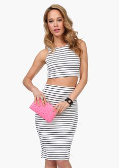 Sailor Top and Pencil Skirt | Shop for Sailor Pencil Skirt Online