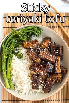 Sticky teriyaki tofu - my favourite tofu recipe ever! So easy to make, but such an incredible flavour. This dish will convert any tofu hater. #teriyakitofu #teriyaki #stickytofu #vegandinner Tofu Recipes, Delicious Vegan Recipes, Healthy Recipes, Meatless Recipes, Tasty, Keto Recipes, Vegetarian Entrees, Vegan Dinners, Veggie Side Dishes