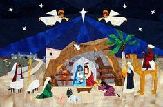 Advent Nativity Paper-Pieced Quilt Pattern at Paper Panache