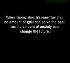 """""""Quando pensar sobre a vida lembre-se disso: nenhuma culpa pode resolver o…"""