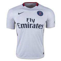 15-16 PSG Away White Soccer Jersey Shirt   Paris St German Jersey Shirt sale   Gogoalshop