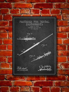 1899 Fastener for dental instruments Canvas Art by PatentsWallArt