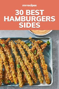 Side Dishes For Bbq, Dinner Side Dishes, Veggie Side Dishes, Healthy Side Dishes, Hamburger Meat Dishes, Hamburger Recipes, Sides For Hamburgers, Healthy Sides For Burgers, Sandwich Sides
