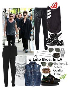 """""""Brothers & Sisters (3)"""" by bianca-cazacu ❤ liked on Polyvore featuring NIKE, Rolex, adidas Originals, Alexander McQueen, Ray-Ban, Chan Luu, Y-3, Dsquared2, family and me"""