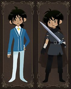 Princess Tutu alter egos - Fakir No no no! He's not the Knight! He's the writer!