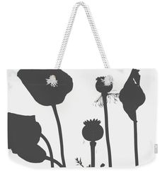 Check out this Poppy Silhouette weekender tote bag via @fineartamerica #OrganicalBotanicals  https://OrganicalBotanicals.com/project