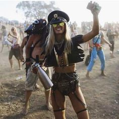 """AUMI on Instagram: """"Dressing for festivals is all about accessories!! I LOVE this girl's style, she nails this outfit with amazing accessories! A great hat, feather collar and body-chain. I have stunning pieces available to create looks like this, click link in bio and hit me up!!  @eviltwin_"""""""