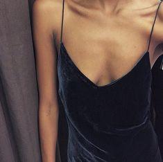 Velvet details.