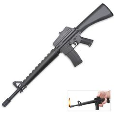 Ever spin a BBQ lighter around your finger like a pistolero before pulling the trigger to light the grill? It's okay -- we do it, too. Now you can get a lighter that fits your gunslinging ambitions. This M16 lighter is shaped like the standard military assault rifle used by our fighting men and women.