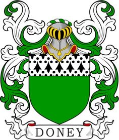 Doney Family Crest and Coat of Arms