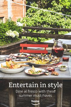 Entertain in style. Dine al fresco with these summer must-haves.