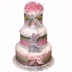 Cute Bunny diaper cake idea