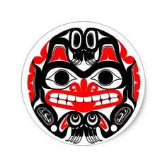 Haida-Bear Classic Round Sticker