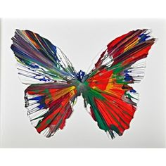 View Butterfly Spin Painting (Created at Damien Hirst Spin Workshop) By Damien Hirst; Acrylic on paper; 21 x 27 in; Access more artwork lots and estimated & realized auction prices on MutualArt. Damien Hirst Butterfly, Damien Hirst Art, Hirst Arts, Butterfly Painting, Butterfly Artwork, Insect Art, Bugs And Insects, Art Sketchbook, Art Images