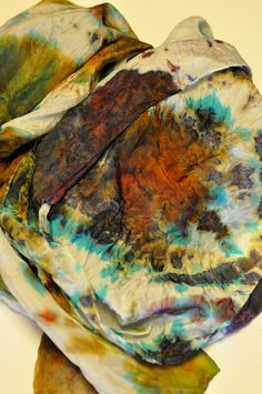 Silk Shibori Scarf - Hand Dyed Silk Scarf - Copper, Purple, Turquoise, Brown - Gift for Her - Silk Habotai by WhatJennyMakes on Etsy Browns Gifts, Dyed Silk, Shibori, Im Not Perfect, Gifts For Her, My Etsy Shop, Copper, Turquoise, Purple