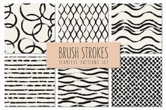 Brush Strokes. Seamless Patterns v.3