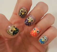 Cute Owl Nails