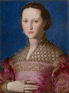 Agnolo Bronzino. Portrait d'Eléonore de Tolède, 1522. Huile sur bois, 59 x 46…