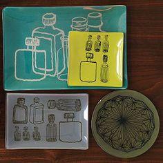 Decoupage trays