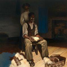 "Kadir Nelson  Emancipation Oil on canvas 36"" x 36"" On display at the Society of Illustrators  Sep. 5 - Oct. 20, 2012"