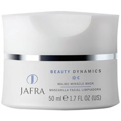 JAFRA Malibu Miracle Mask. A rich suspension of natural exfoliants and moisturizers formulated to cleanse surface skin impurities while the astringent properties of peppermint shrink pores.