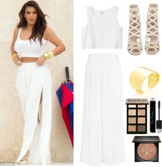 """""""Get The Look - Kim Kardashian"""" by fgms on Polyvore"""