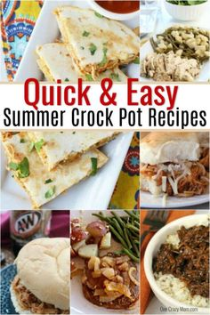 We have over 25 easy summer crock pot recipes to make dinner time a breeze! Keep your kitchen cool all summer long with these easy slow cooker meals. #onecrazymom #summer #crockpot #recipes #easy