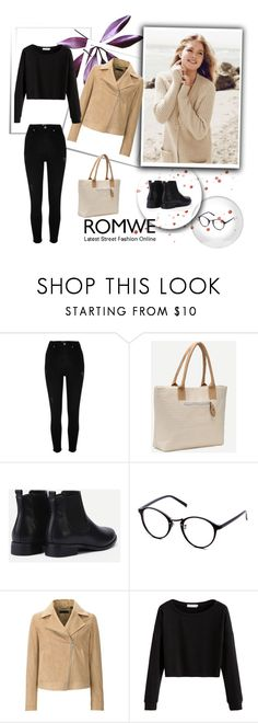 """""""Romwe 10/X"""" by nermina-okanovic ❤ liked on Polyvore featuring River Island, Repeat Cashmere, Uniqlo and romwe"""