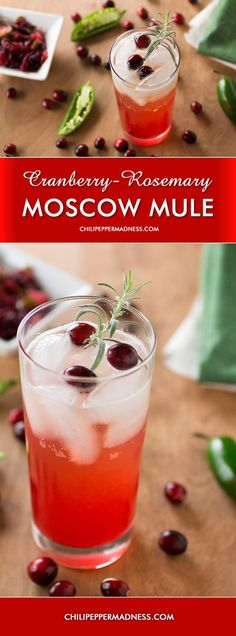 Holiday Cocktail: Cranberry-Rosemary Moscow Mule