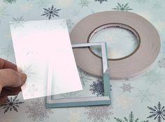 Falling Snow Holiday Shaker Card - on HGTV