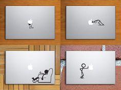 Bundle Stick Figure Macbook Decals