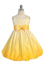 Gergoeous Yellow Ombre Print Satin Bubbled Hem Short Flower Girl Dress A3412-YL  There are many options here, not too expensive either!