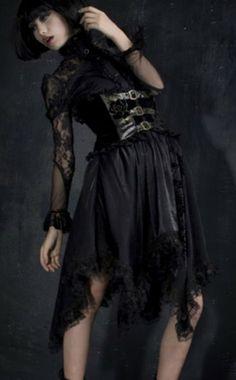 Long black gold high waisted goth corset wedding dress more